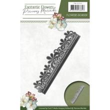 Precious Marieke Fantastic Flowers - Flowers Border - Metal Die PM10093