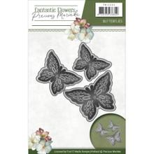 Precious Marieke Fantastic Flowers - Butterflies - Metal Die PM10095