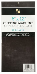 "DCWV Chalk Cardstock 6x12"" Black Shimmer Finish Card"