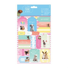 Docrafts Papermania Paws for Thought - Die Cut Sentiments - Kittens Puppies