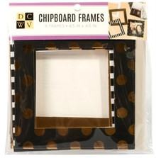 DCWV Embellishment - Foiled Chipboard Frames for Card Making and Scrapbooking
