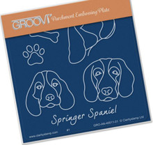 Groovi Babies -Springer Spaniel - Laser Etched Acrylic for Parchment Craft