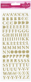 docrafts Anita's Glitterations Upper Case Alphabet Stickers, Gold