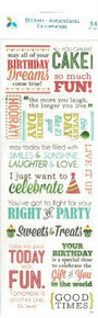 Momenta - Birthday Dreams Vellum Message Stickers - Foil Accents
