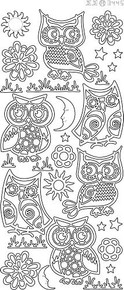 Find It Trading Various Owls Gold Stickers 344500