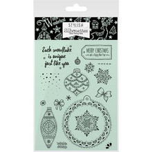 Hunkydory Stylish Silhouettes Stamps A White Christmas/Sparkling Baubles