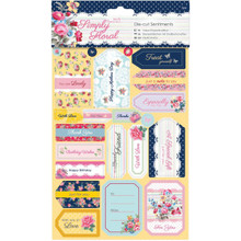 docrafts Papermania Simply Floral Sentiments Die-Cuts