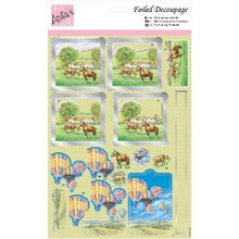 DoCrafts Anita's A4 Foiled Decoupage Sheet-Hot Air Ballooning 169641