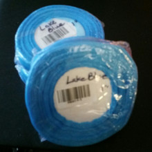 "Organza Ribbon 1"" LAKE BLUE 50-yards RN0014-5"