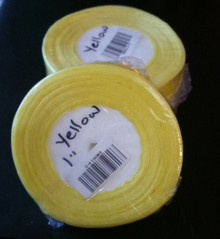 "Organza Ribbon 1"" YELLOW50-yards RN0014-8"