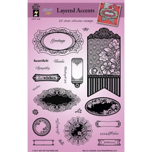 HOTP Clear Stamps - Layered Accents - Silicone Stamps HOTP1226