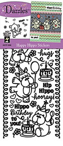 HOTP Dazzles Happy Hippo Stickers HOTP2598
