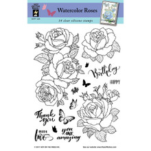 HOTP Clear Stamps - Watercolor Roses - Silicone Stamps HOTP1228