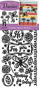 HOTP Dazzles Scribble Shapes Stickers HOTP2597
