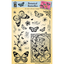 HOTP Clear Stamps - Botanical Butterflies - Silicone Stamps HOTP1227