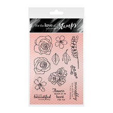 Hunkydory Crafts For the Love of Stamps -- Beautiful Blooms Rose Gold Collection
