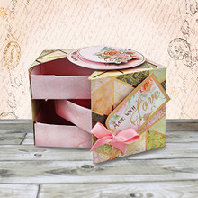 Hunkydory Crafts Rose Gold Moments Rose Gold Trinket Box Card ROSEMOM106