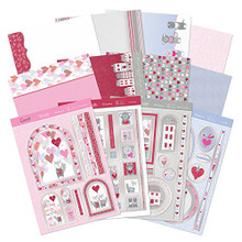 Hunkydory Deluxe Card Kit Love Is In the Air Card Making 12-Sheets