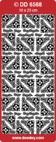 DOODEY DD6568 BLACK SMALL GOTHIC Corners Peel Stickers One 9x4 Sheet