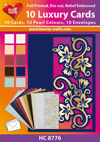 10 Luxury Cards - HC8776 Pearlized, Foiled, Die-Cut and Embossed