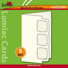 5 Red Lomiac Die-Cut A6 Squares Trio Cards Making