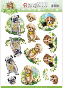 Amy Design - Sweet Pet Punchout Sheet-Dogs