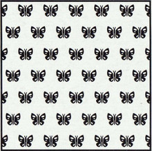 Nellie's Choice Background Embossing Folder-Spring Butterfly, 6 by 6-Inch