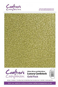 Crafter's Companion Luxury Cardstock - Gold (250gsm)