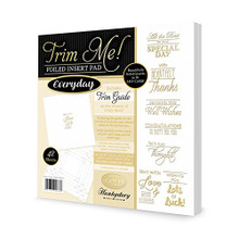 Hunkydory Crafts Trim Me Gold-Foiled Everyday Inserts for Cards - 42 sheets