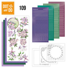 Dot and Do Nr. 109 Card Kit Condolence HobbyDot Stickers, 3D Image & Layered Cards