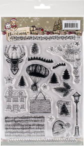 Find It Yvonne Creations Celebrating Christmas Clear Stamp-Celebrating Christmas