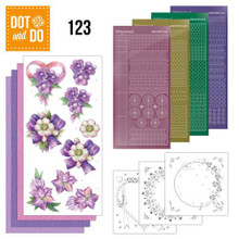 Hobbydots Dot and Do Purple Flowers NR123 Card Kit