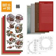 Hobbydots Dot and Do NR086 Christmas Animals Card Set