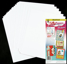 20pc Silky Bleed Proof Cardstock Premium White 8.5x11