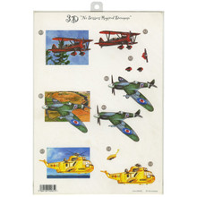 CraftUK 3-D Die-Cut Decoupage Sheet-Planes