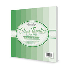 Hunkydory Crafts Colour Families Paper Pad - GREEN - 8x8 Paper COLOURPAD103