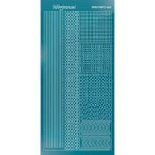 Find It Trading Hobbydots sticker style 01 - Mirror - Turquoise
