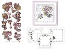 Card Deco 1-Piece Hearts Dot and Do 15 Hobbydots Card Set DODO015