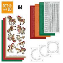 Dot and Do Christmas Horses DODO084 Hobbydots Card Set