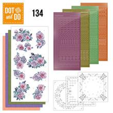 Dot and Do Purple Flowers DODO134 Hobbydots Card Set