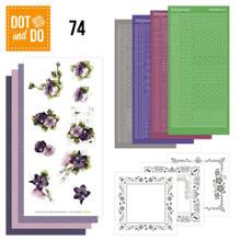 Dot and Do Purple Flowers DODO074 Hobbydots Card Set