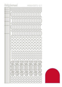 Find It Trading Hobbydots Sticker Style 17- Red