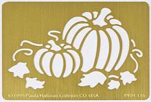 "Pumpkin Metal Stencil PPH-116  4""x 2 3/4"""