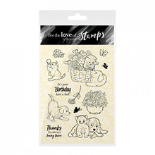 HunkyDory Crafts For the Love of Stamps - Paws and Petals FTLS314
