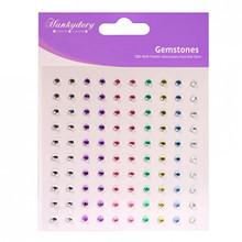 3PK Hunkydory Diamond Sparkles 100ea Pk 3mm Pastel Gemstones Self-Adhesive Rhinestones