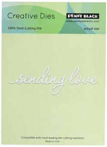 Penny Black 51-216 N/A Creative Dies-Sending Love, 4'x1.25',,