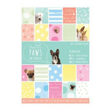 Papermania Paws For Thought Pet-Themed A5 Paper Pack 26-Sheets A5 Card Kit