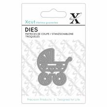 XCut - Baby's Pram Mini Die Metal Cutting Die Set XCU503078