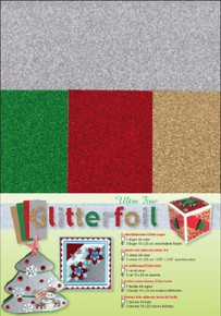 Ultra Fine Glitter foi Ultra Fine Glitter Foil Sheets for Scrapbooking, 2 Silver/3 Assorted Colors