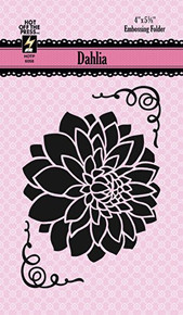 Hot Off The Press - Dahlia Embossing Folder